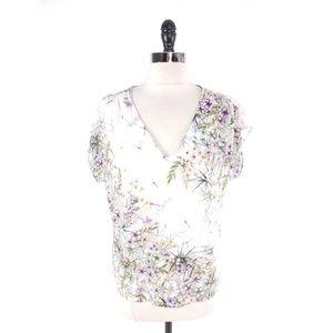 Antonio Melani Floral Chiffon Layer Top